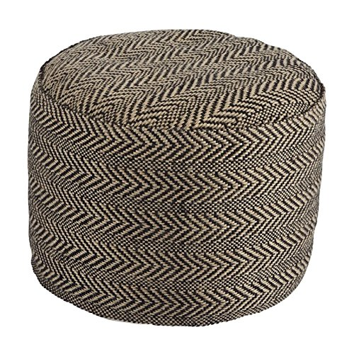 Signature Design by Ashley Chevron Natural Pouf by Signature Design by Ashley