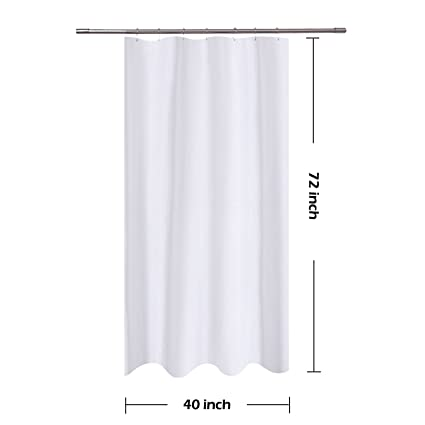 Com N Y Home Fabric Shower Curtain Liner White 40 X 72
