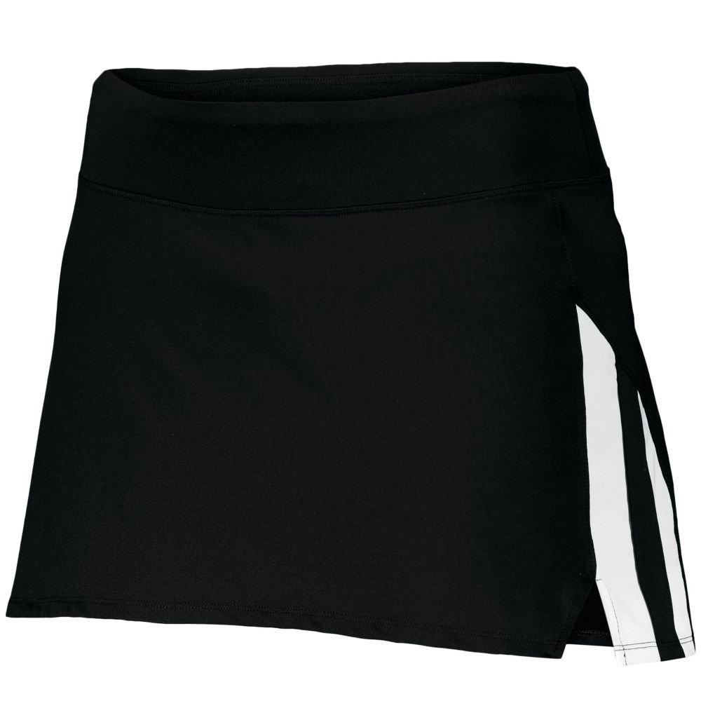 Augusta Sports Ladies Full Force Skort, Black/White, XX Large