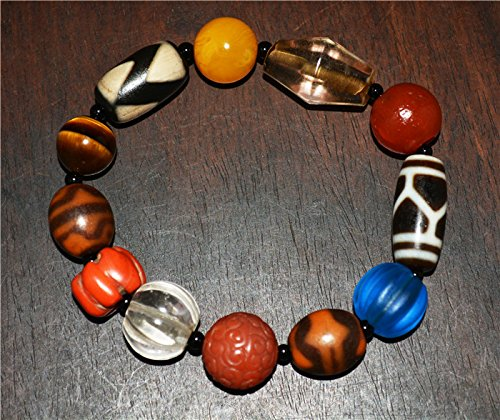 - Tibetan Antique Nanhong Pema Raka Red Agate Tiger Tooth Dzi Bead Double water wave Lotus Gzi Xizang Tianzhu Carnelian Bracelet Baltic Amber Egg Yolk Butterscotch White Crystal Glass Red Coral Turquoise Chain Chinese Tibet Rosary Round 3 eyes dzi bead eyed Buddhist Prayer Beads Old Ancient Mala Worry Misbaha Komboloi Islamic