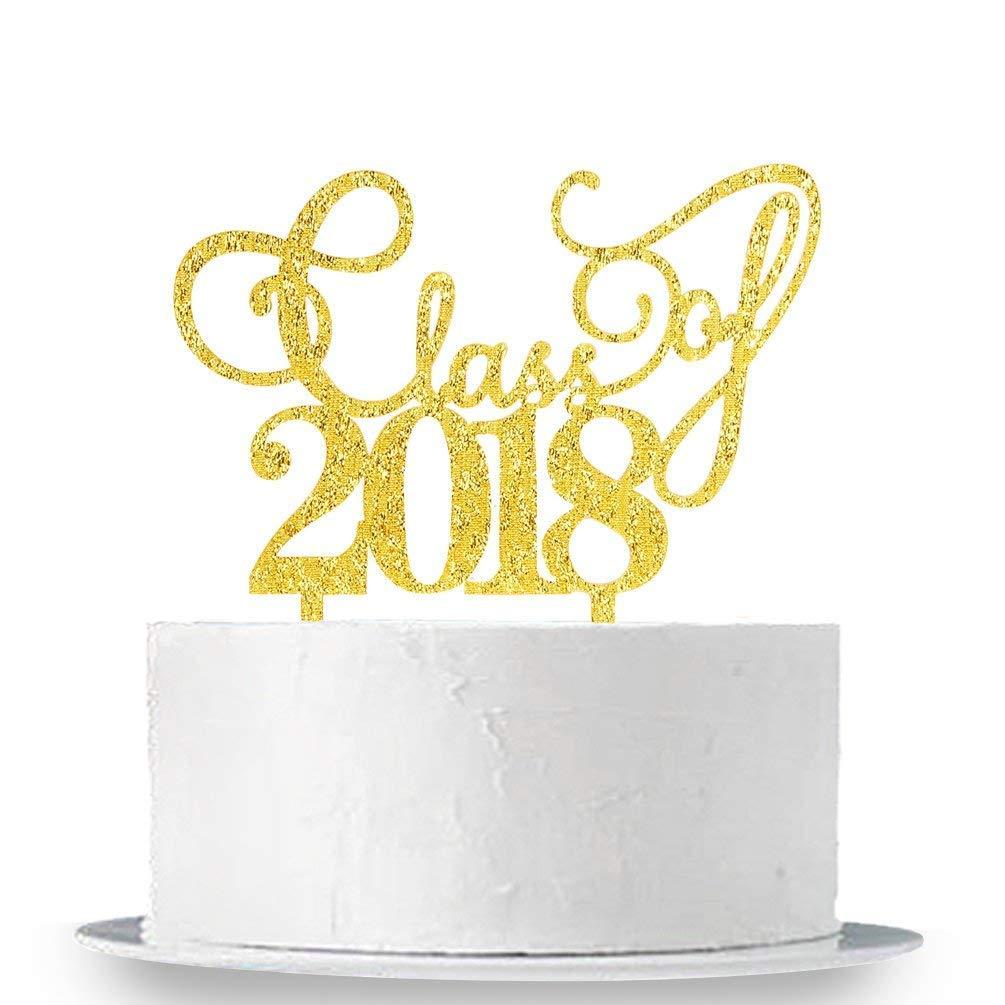 KISKISTONITE Class of 2018 Cake Topper - Congrats 2018 Graduate - Grad Party Decorations Supplies - High School Graduation, College Graduate Cake Topper Special Event