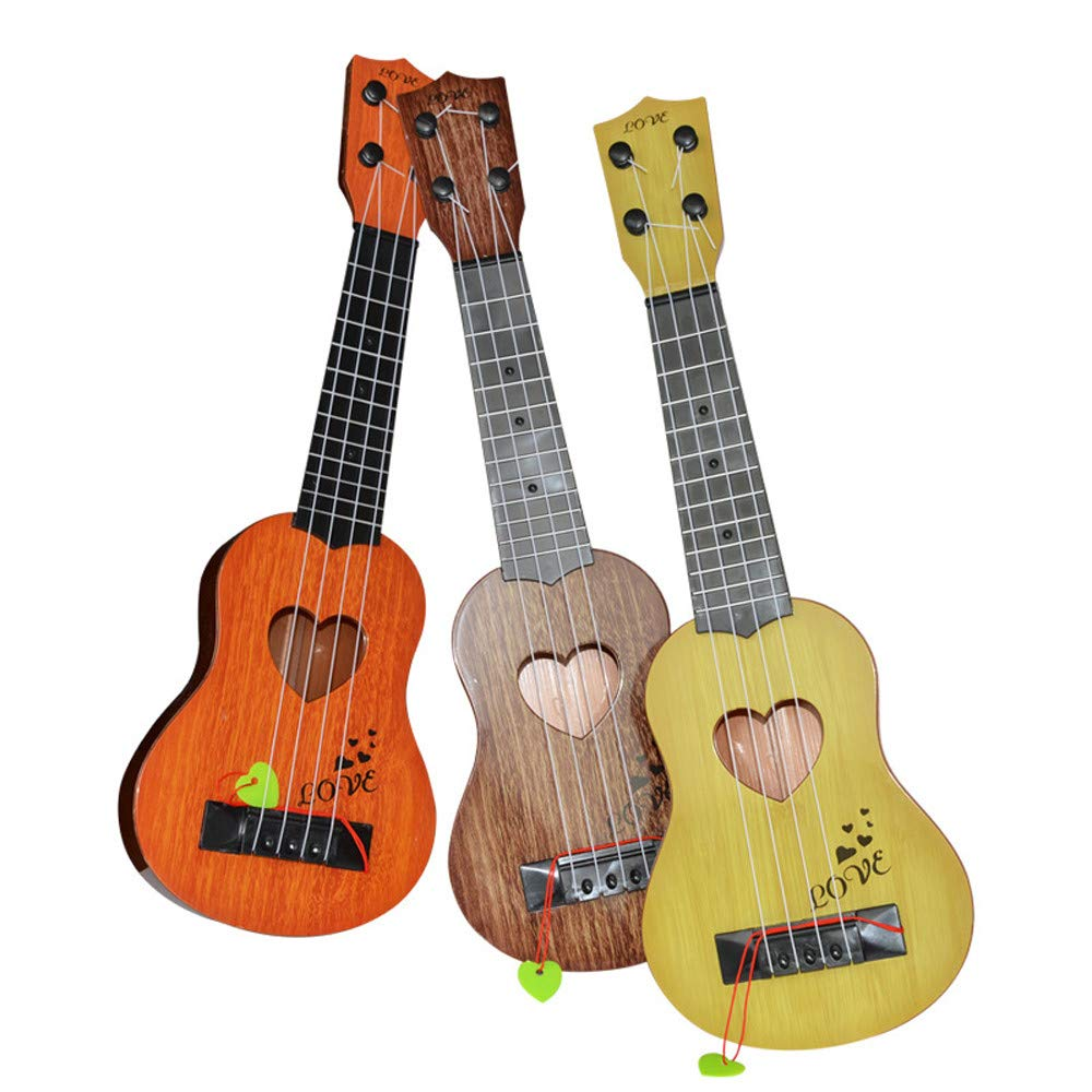 DEESEE(TM)🌸🌸Beginner Classical Ukulele Guitar Educational Musical Instrument Toy for Kids (Orange): Beauty