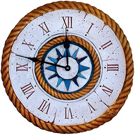 Piazza Pisano Nautical Compass Rose Large Clock