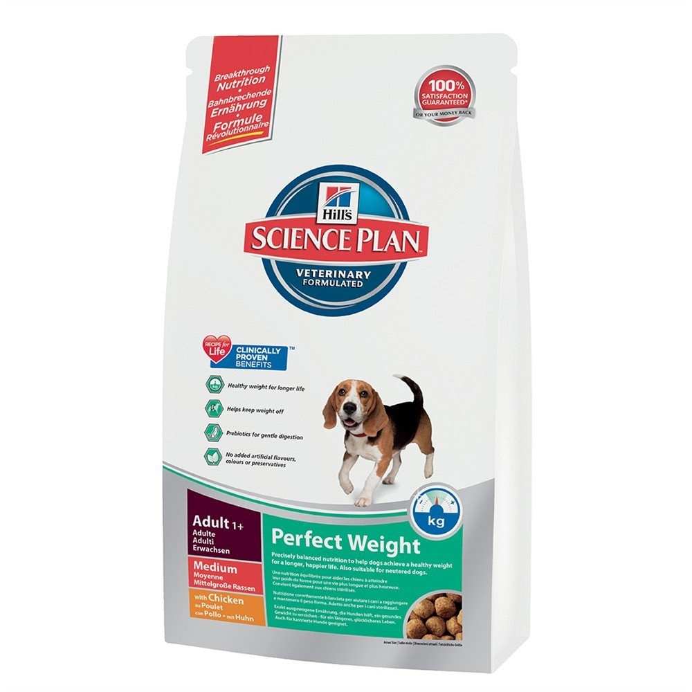 2kg Hills Science Plan Canine Adult Perfect Weight Medium Breed