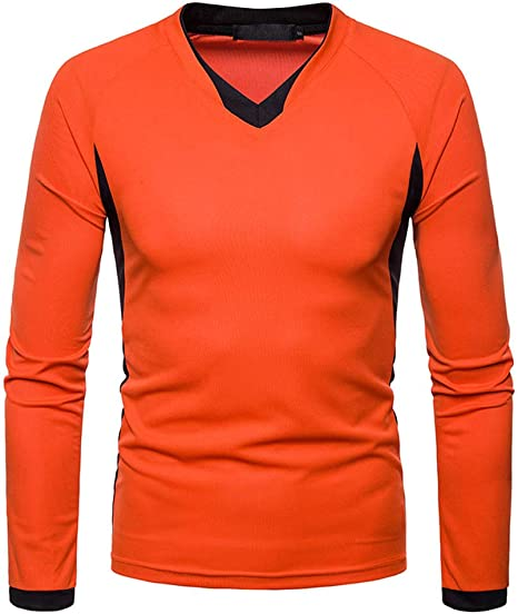 LuckyGirls Camisetas Cuello en V Irregular Color de Hechizo Camisa ...