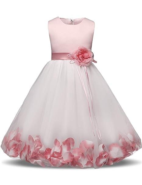 daa2b56401 Amazon.com  Flower Girl Dresses for Wedding Girl Party Dress Costume for  Kids School Girls Graduation Gowns Children