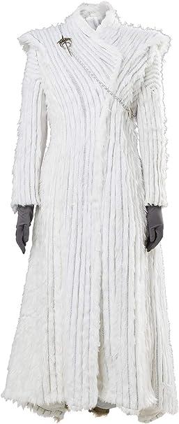 Fuman Disfraz de Khaleesi de Juego de Tronos, color blanco azul S ...