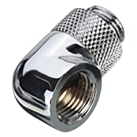 """Hidream G1/4"""" 90° Rotating Joint Elbow Water Cooling Fitting Rotary Thread Nozzle"""