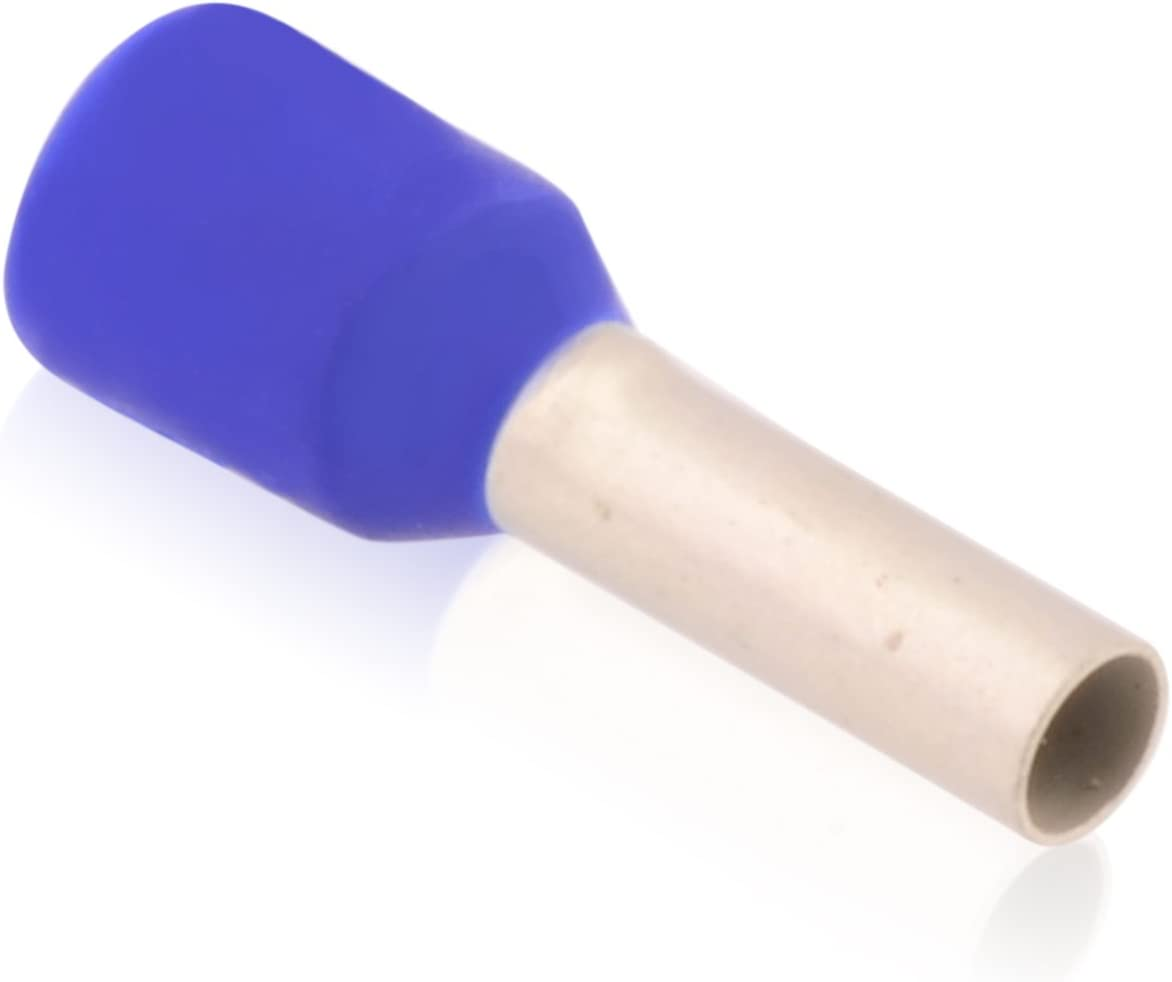 100 Aderendhülsen 2,5 mm² x 25 mm blau Kunststoffkragen Weidmüller isoliert