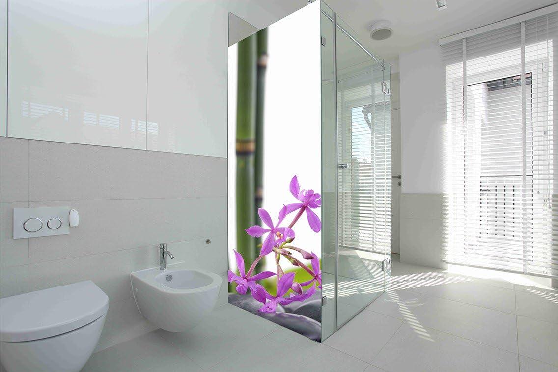 Vinilo para Mamparas baños Bambú Flores |Varias Medidas 185x70cm ...