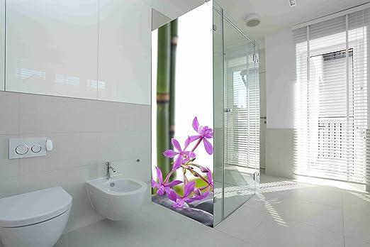 Vinilo para Mamparas baños Bambú Flores |Varias Medidas 185x60cm ...