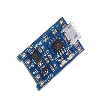 TwoCC 5 unidades 18650 micro USB batería de litio Tp4056 módulo de ...