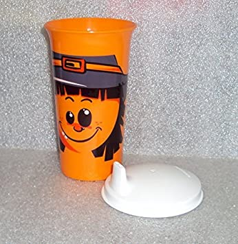 tupperware big bell tumbler sipper seal sippy cup halloween scarecrow