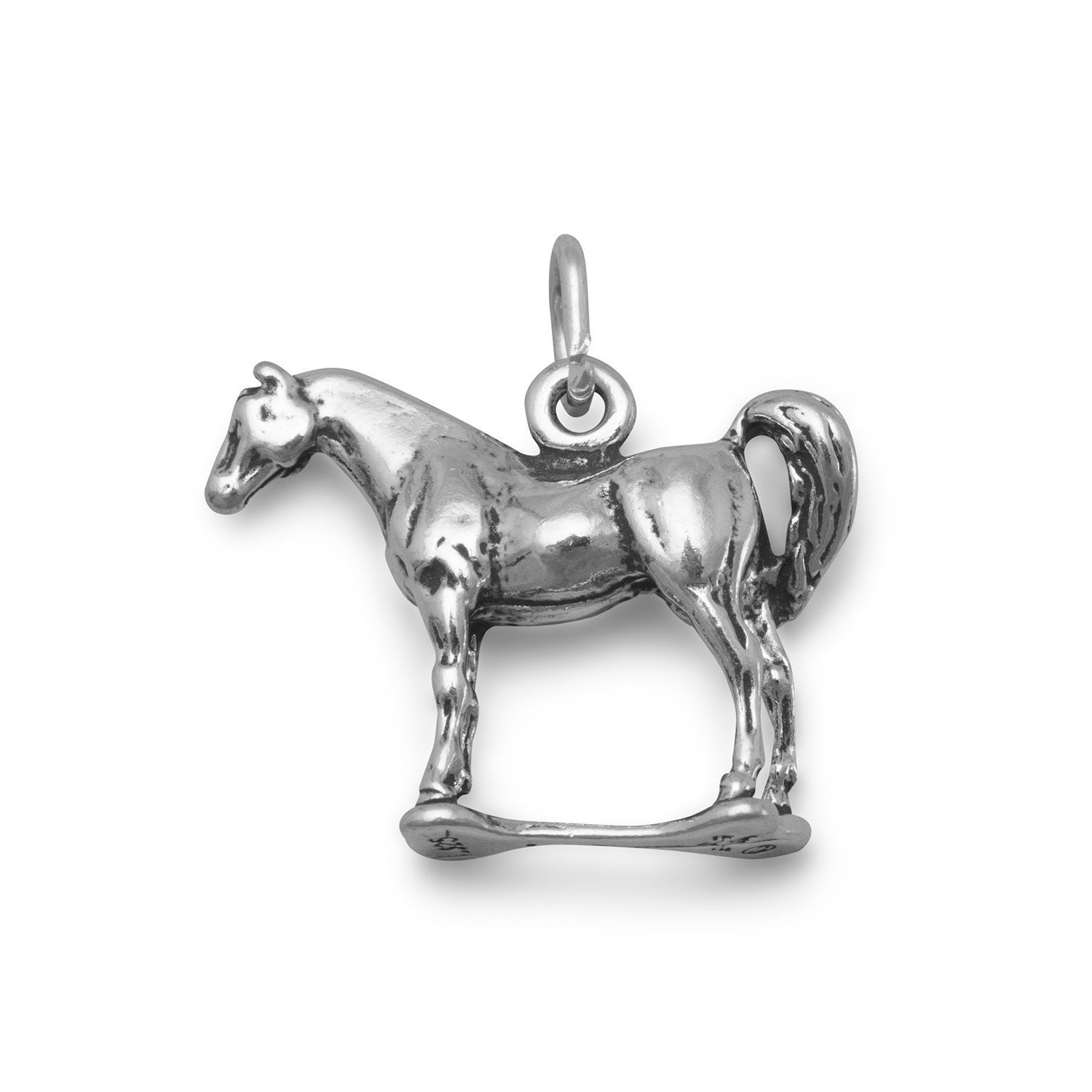 925 Sterling Silver Standing Horse Charm