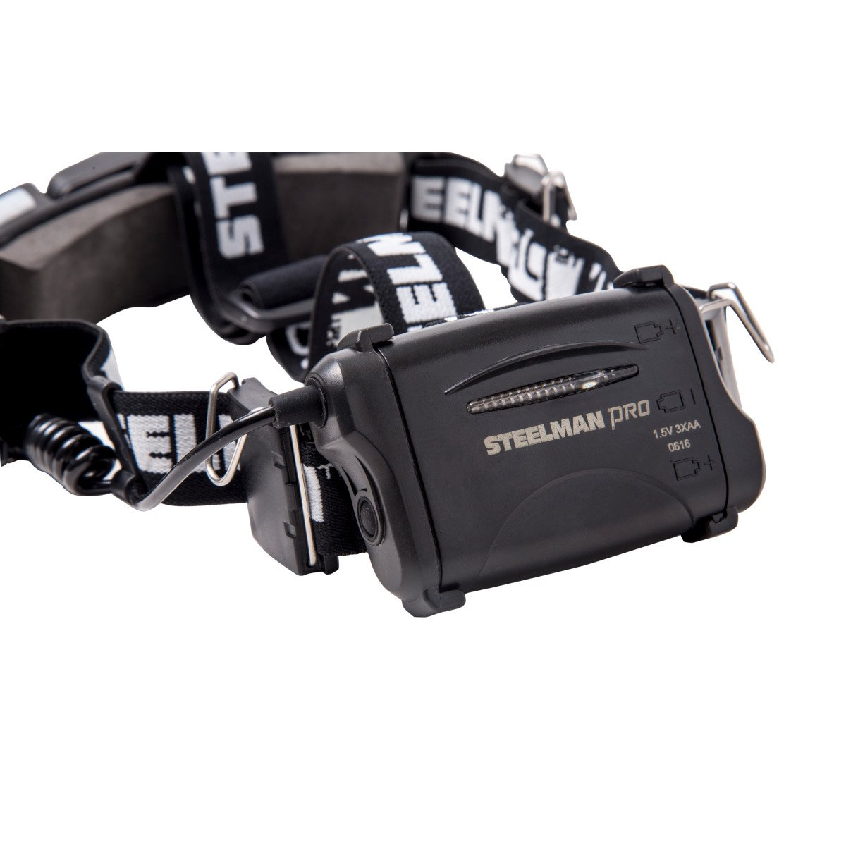 STEELMAN PRO 79052 Slim Profile LED Headlamp with Rear Flasher and 3 AA Batteries