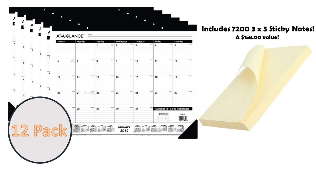 Amazon.com: 2019 AAG SK2400 - Calendario de escritorio 17.0 ...