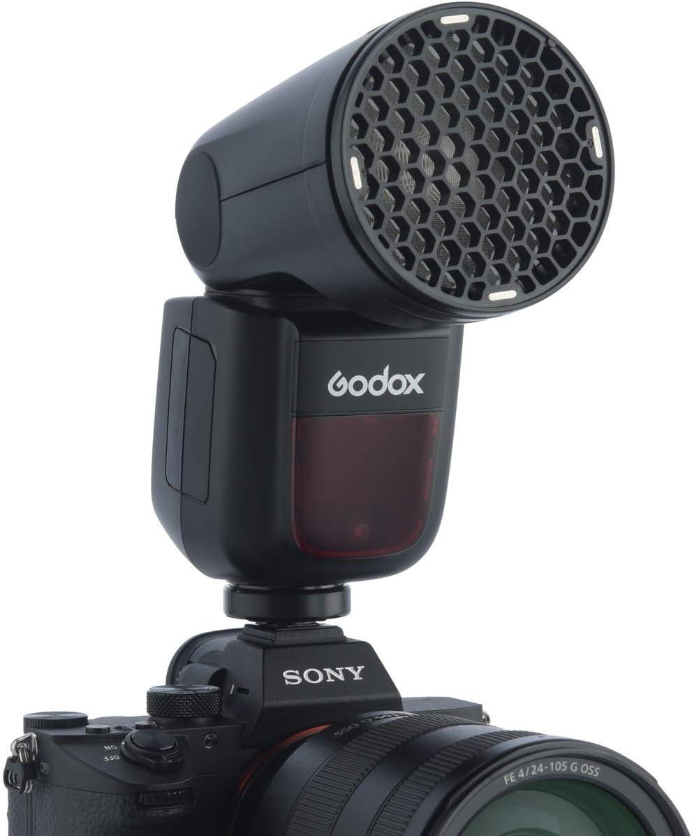 1.5 sec Recycle Time,1//8000 HSS Godox V1 V1S V1-S Flash Interchangeable 2600mAh Lithimu Battery for Sony Camera 480 Full Power Shots