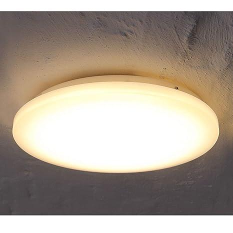COOLWEST Lámpara de Techo 24W Plafones Blanco Cálido 3000K 2150lm Ø33cm IP44 impermeable 180° LED Iluminación de techo para baño, cocina, dormitorio, ...
