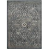 "Safavieh VTG175-7330-8 Vintage Collection Traditional Oriental Blue & Light Grey Viscose Area Rug, 8' x 11'2"""