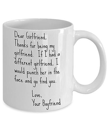 Amazoncom Dear Girlfriend Punch Mug Face Punch 11 Oz Best Funny