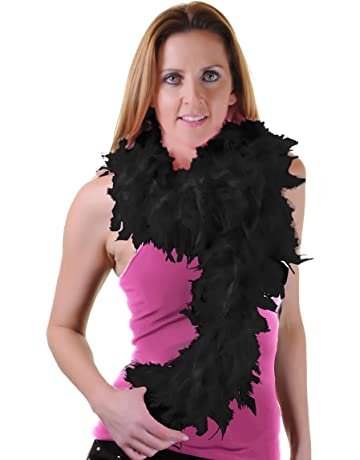 f0b743845 High Quality 150 cm Feather Boas Great for Hen and Stag Nights (Black)