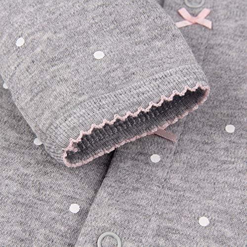 CARETOO Ourson b/éb/é somnolent somnolent b/éb/é Pyjama en Coton Bande dessin/ée Romper,12 mois,Gris Fonc/é