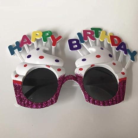 TianXY Feliz Cumpleaños Gafas Divertidas Personalidad ...