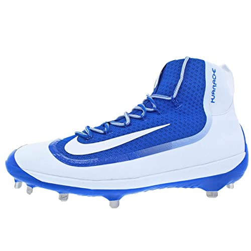 separation shoes 128b9 c04bc Nike Mens Air Huarache 2kFilth Elite Mid Athletic Cleats Blue 15 Medium (D)