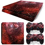 MODFREAKZ™ Console and Controller Vinyl Skin Set - Red Star Space for PS4 Slim