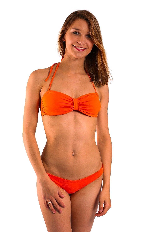 Bikini-Hose Slip Emmatika Solid Naranja Stella Orange