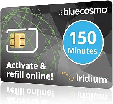 BlueCosmo Iridium teléfono satelital prepago y Servicio de Tarjetas sim 2: 150 Minutos / 60 Día: Amazon.es: Electrónica