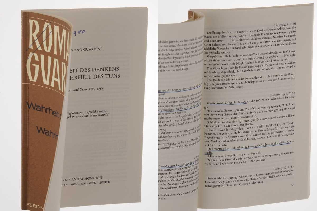 Wahrheit des Denkens und Wahrheit des Tuns. Notizen und Texte 1942 - 1964