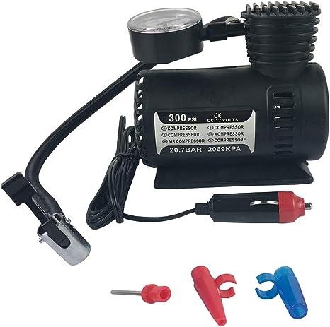 Sylvialuca Compresor de Aire, 12v Coche eléctrico Mini compresor ...