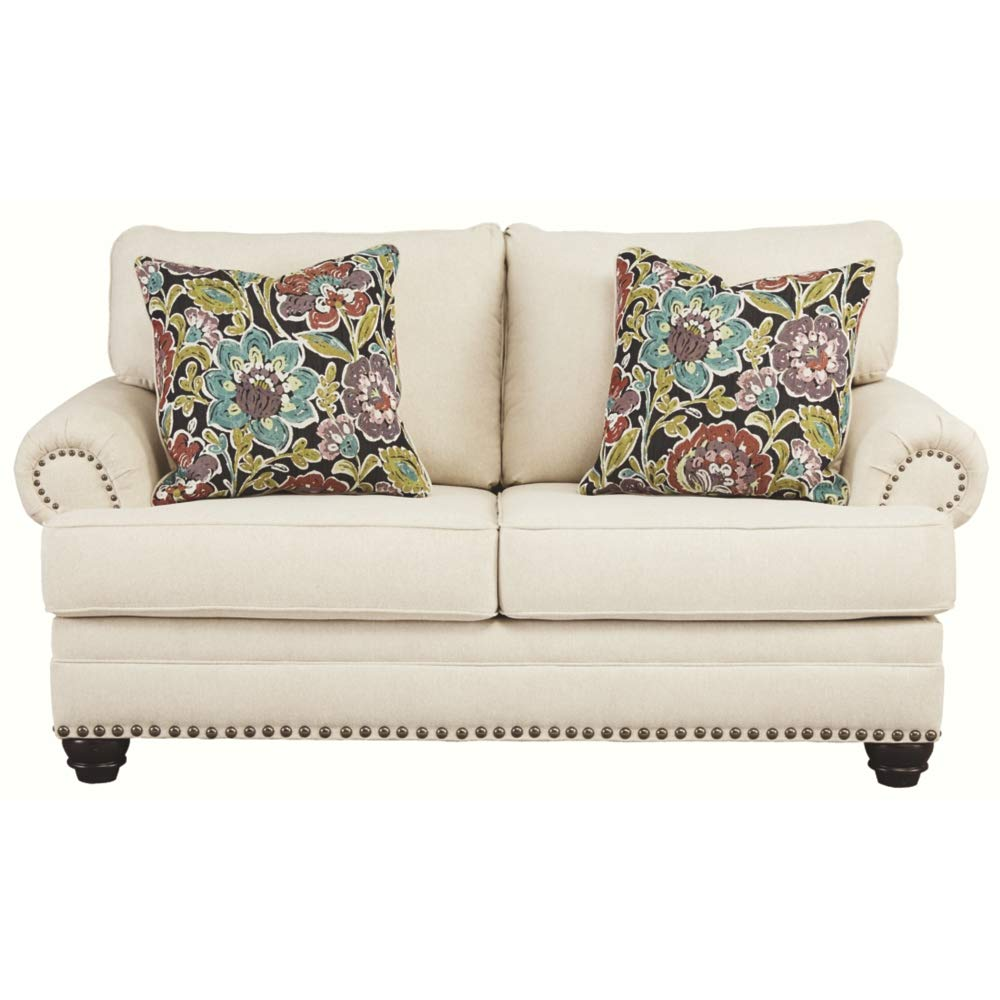 Signature Design by Ashley – Harrietson Modern Loveseat, Shell