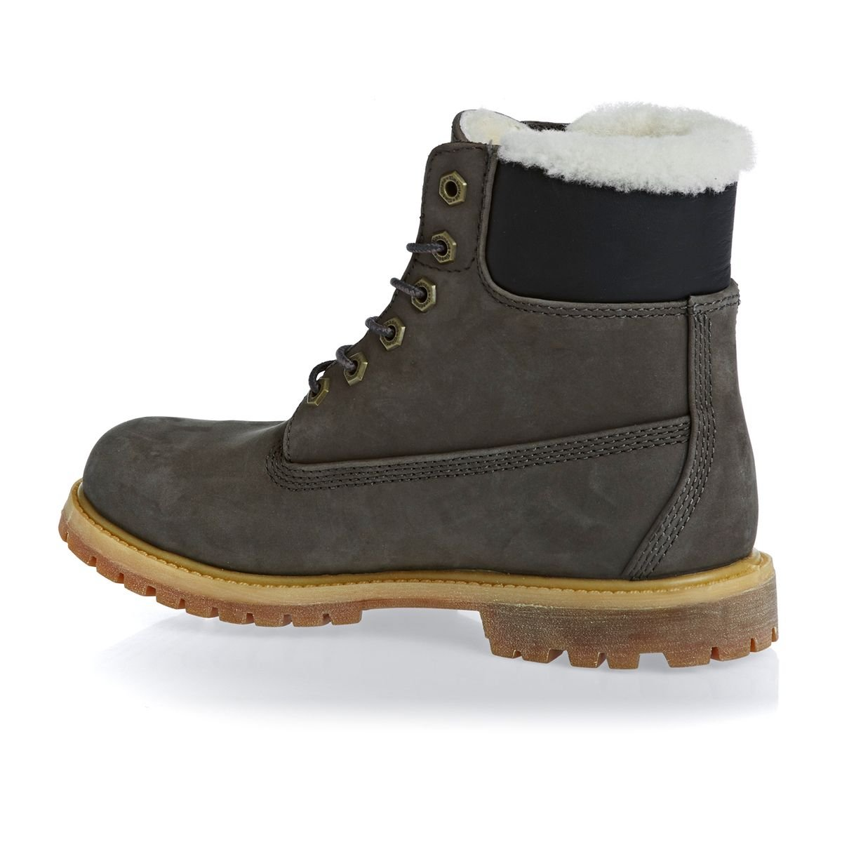 Neue Timberland Authentic 6 Wasserfest Shearling Dunkel