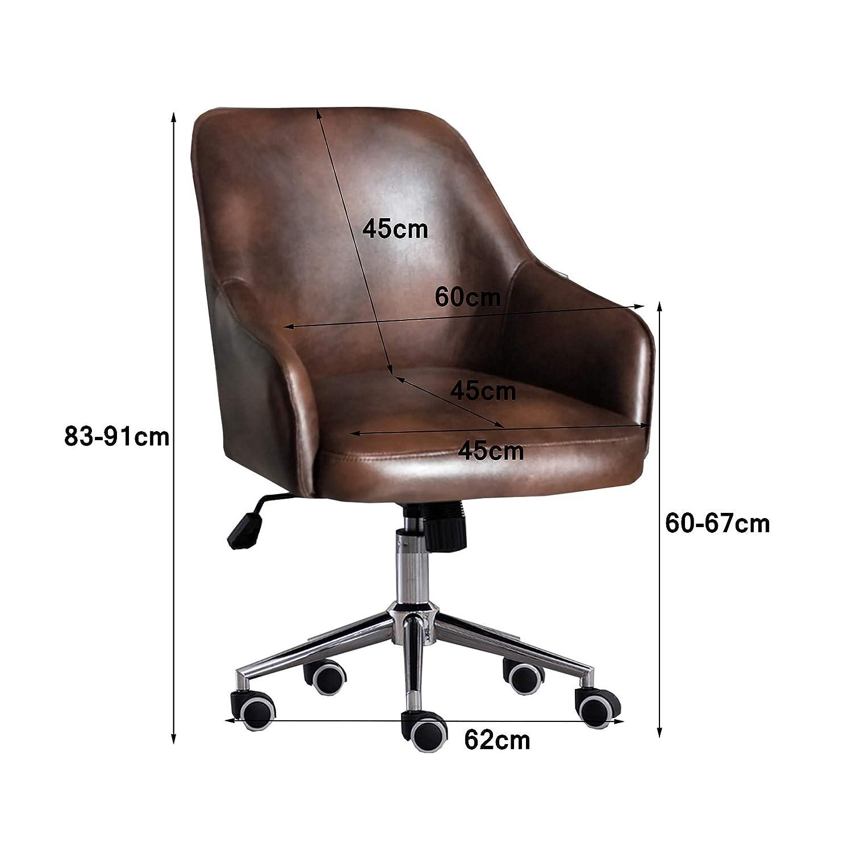 360° svängbar kontorsstol höjd justerbar dator skrivbord stol med ländrygg stöd och armstöd för kvinnor män (max belastning 150 kg) nr3