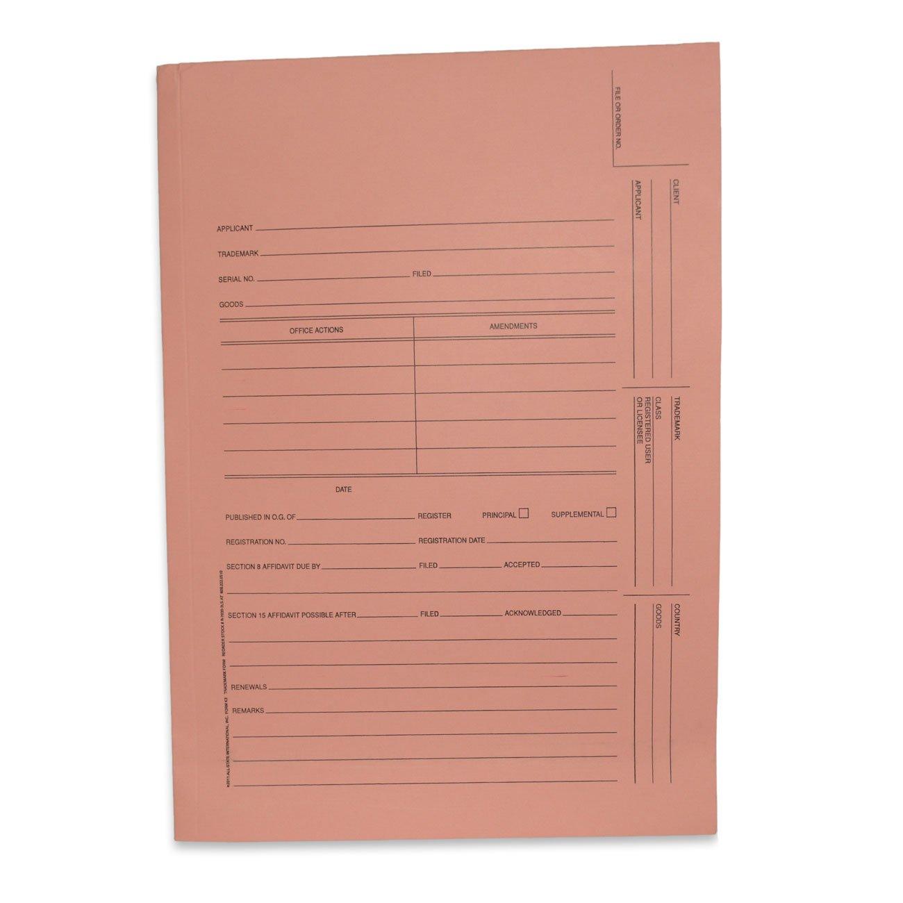 Kruysman/Redweld Trademark Folder, 3 Panel, 10 1/4'' x 14 1/2'' When Folded, Salmon, 100 per Box