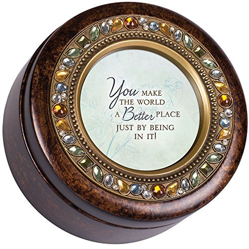【テレビで話題】 You My World Make the World Special Burlwood Finish Round Jeweled B077Z4QC98 Music Box Plays Tune Wind Beneath My Wings [並行輸入品] B077Z4QC98, ニシムログン:76dfb6dc --- arcego.dominiotemporario.com