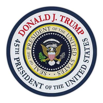 "Crazy Novelty Guy Round Magnet - Donald J. Trump 45th President Commemorative Magnet - Magnetic Bumper Sticker - 4.75"" Diameter: Automotive"