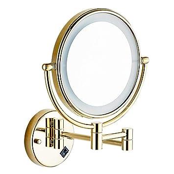 1x Doppelseitiger Kosmetikspiegel Schminkspiegel 10-fach Vergrößerung Faltendes