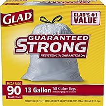Glad Tall Kitchen Drawstring Trash Bag - 13 Gallon - 90 Count - Packaging May Vary