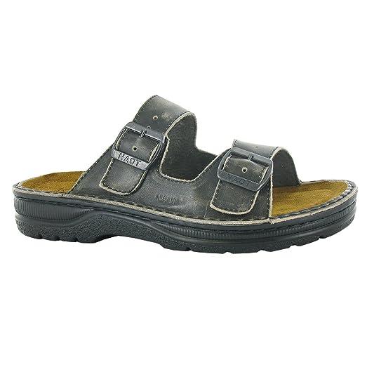 Naot Mikael Scandinavian Men Sandals, Vintage Gray Leather,Size - 44