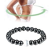 Magnetisches Armband Unisex Hämatit Stein Armreif für Gewichtsverlust Abnehmen Anti-Müdigkeit Gesunde Pflege Männer Frauen Schmuck