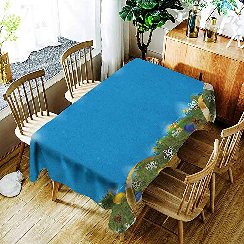 XXANS Waterproof Table Cover,Christmas,Spiral Design Coniferous Fir with Colorful Presents Pine Cones Festoon Spruce,Fashions Rectangular,W50x80L - Pinecone Medallion