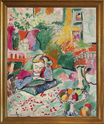 Henri Matisse Art Canvas - Berkin Arts Framed Henri Matisse Giclee Canvas Print Paintings Poster Reproduction(Interior with a Young Girl)