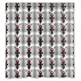 BMW Weighted bottom Moldresistant Polyester Shower Curtains Quality 60x72 inch / 150x180 cm