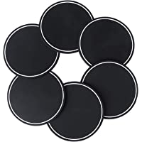 BEWISHOME Coasters for Drinks Silicone Black Set of 6 Nonslip Modern Cup Mats Washable Pads for Hot Cold Beverages Tabletop Bar Protection from Damage Water Marks Fit Cups Mugs Glassware KBD01H