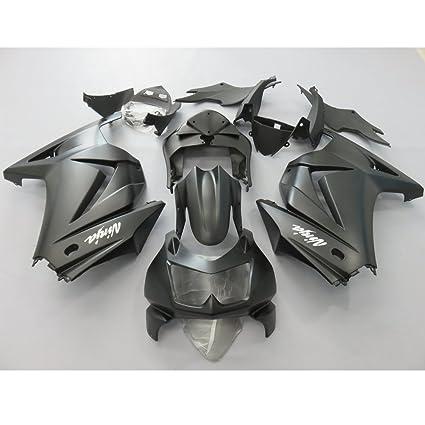 zxmoto todos Negro Mate Kit de carenado para Kawasaki Ninja ...