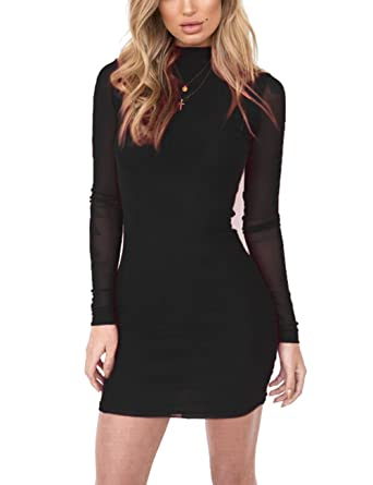 Long Sleeve Mesh Dress