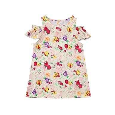 d53a6cf1e36 PLOT Clearance Baby Infant Girls Dress Newborn Short Sleeve Sundress  Clothing 0-24 M  Amazon.co.uk  Clothing